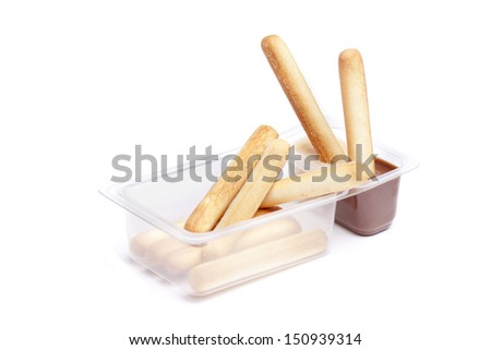 breadsticks cream peanuts stock photo © jarp17