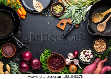 Ингредиенты · приготовления · лист · лет · оранжевый · пластина - Сток-фото © maisicon