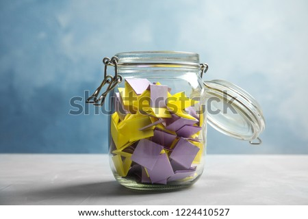Papers in a jar Stock photo © zzve