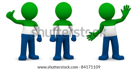 3d character textured with flag of Sierra Leone Stock photo © Kirill_M
