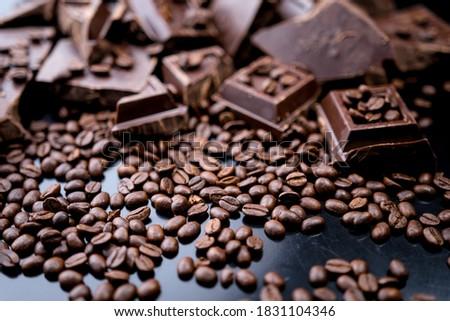 Közelkép kávé fahéj diók kávé csokoládé Stock fotó © oly5