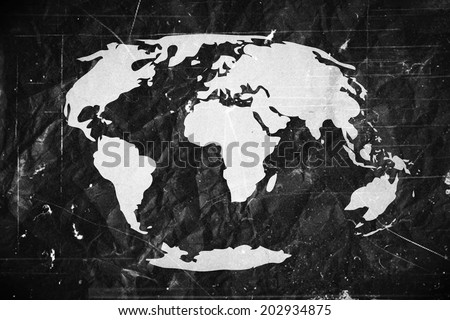 globe earth icons themes idea design on crumpled paper stock photo © kiddaikiddee