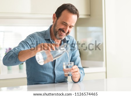 Man in water Stock photo © IS2
