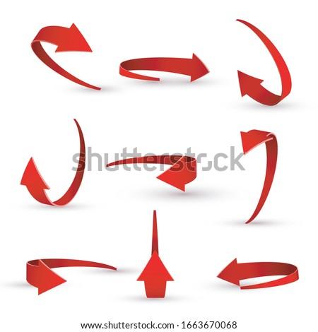 Flecha 3D vector icono diseno Foto stock © rizwanali3d