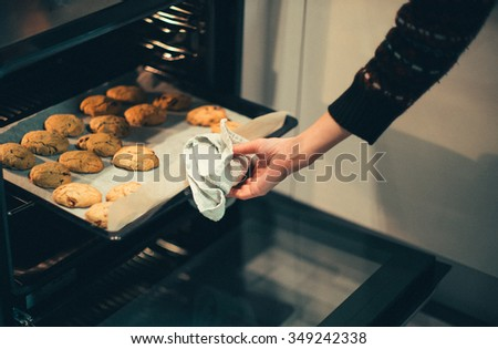 closeup baked cookies stock photo © unkreatives