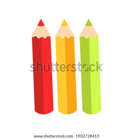 Renkli mum boya stil anlamaya ayarlamak örnek Stok fotoğraf © Blue_daemon