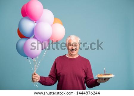 man · bos · ballonnen · partij · gelukkig - stockfoto © pressmaster