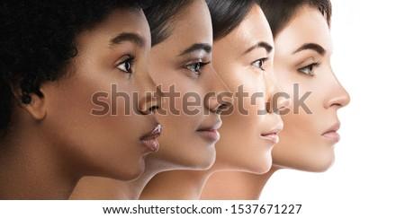 mooie · gezicht · jonge · kaukasisch · vrouw · schoonheid - stockfoto © serdechny