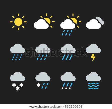 Sun and clouds. Isolated icon. Weather vector illustration Stock photo © Imaagio