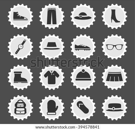 Roupa simplesmente ícones os ícones do web usuário interface Foto stock © ayaxmr
