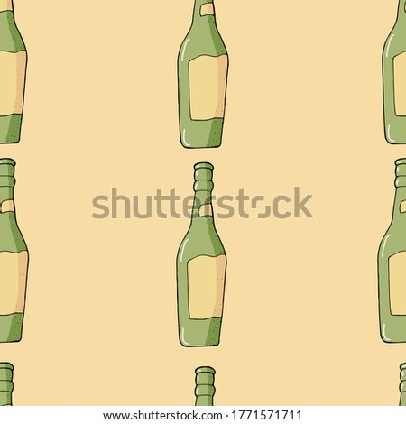 şişe bira cam kroki stil Stok fotoğraf © Arkadivna