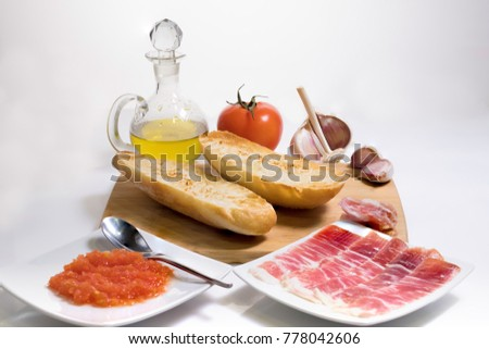 Tomatoes and oilcan Stock photo © broker