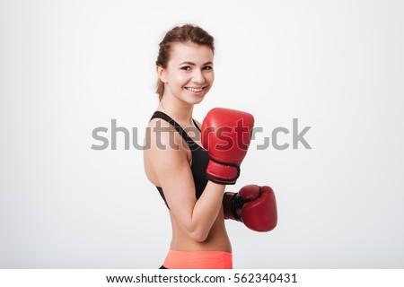 Happy female boxer Stock photo © photography33