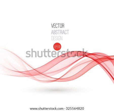 Rood swirl golvend abstract lay-out groot Stockfoto © ArenaCreative