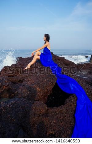 sensual brunette lady posing stock photo © neonshot