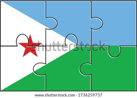 European Union and Djibouti Flags in puzzle  Stock photo © Istanbul2009