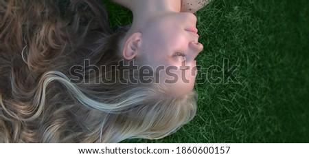 Portrait naturelles blond fille parfait peau Photo stock © majdansky