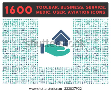 home flat cobalt color rounded raster icon stock photo © ahasoft