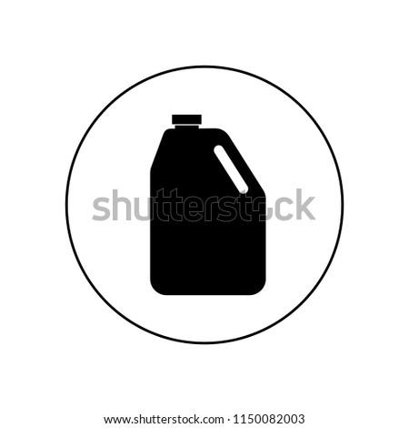 ベクトル ガソリン アイコン 孤立した 白 緑 ストックフォト © dashadima