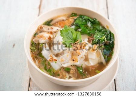 Frango sopa asiático tigela Foto stock © szefei