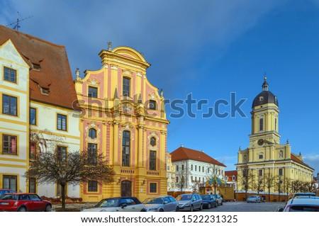 квадратный Германия библиотека дома здании архитектура Сток-фото © borisb17