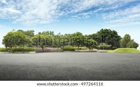 üres út park díszlet illusztráció fa Stock fotó © bluering