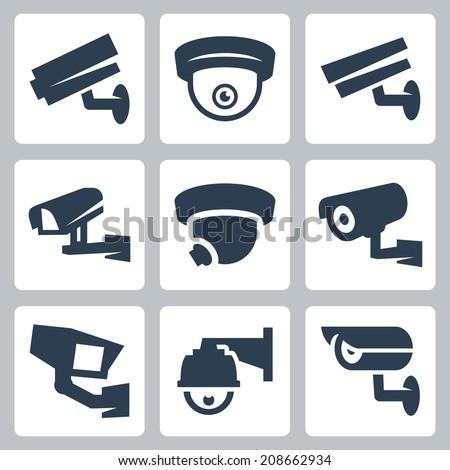 câmera · de · segurança · proteger · facilidade · segurança · monitor · ver - foto stock © ecelop