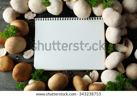 Frame of Raw Champignons Stock photo © zhekos