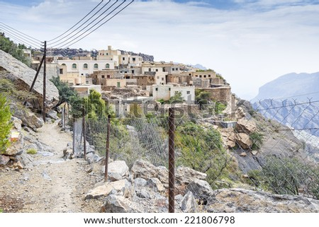 Оман пути плато изображение походов дороги Сток-фото © w20er