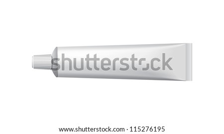 Tube Of Toothpaste, Cream Or Gel Grayscale Silver White Clean Stock photo © netkov1