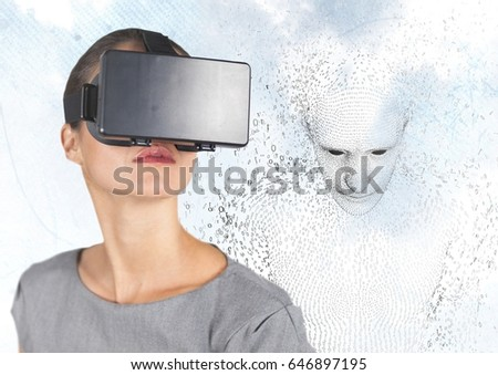 3D férfi alakú bináris kód égbolt felhők Stock fotó © wavebreak_media