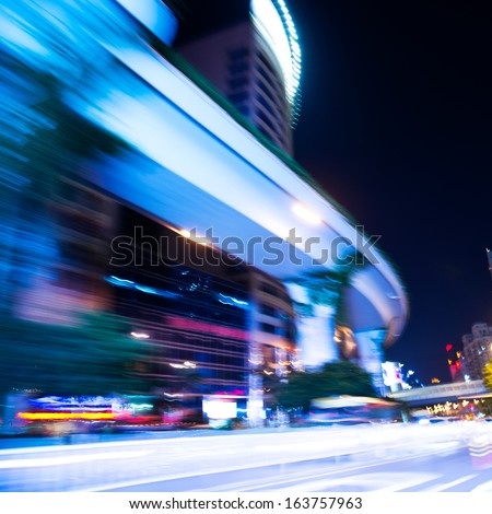 Stock fotó: Felfelé · oldal · lefelé · éjszakai · város · fények · digitális · kompozit