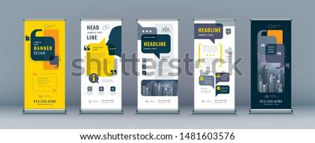 Verkoop banner abstract business vector rollen Stockfoto © Diamond-Graphics