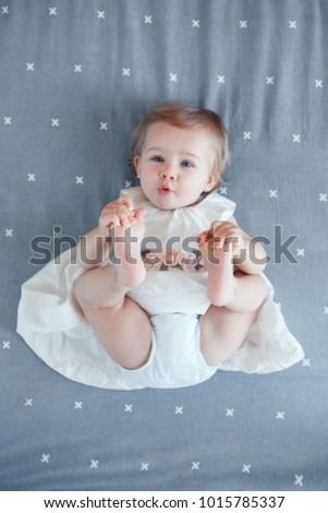 Stockfoto: Een · jaren · meisje · baby · oog