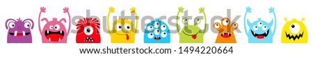 Black Comic cute monster vector Stock photo © Blue_daemon