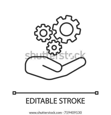 Nyitva kéz fogaskerék sebességváltó digitális kompozit nő Stock fotó © wavebreak_media
