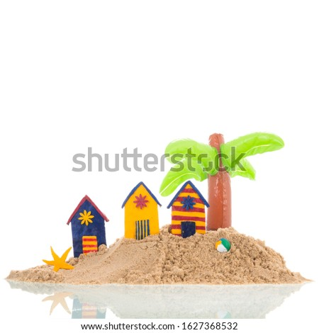 Colorful handmade beach cabin Stock photo © ivonnewierink