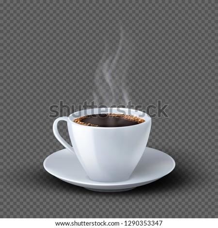 Zwarte beker koffie cafe Stockfoto © nomadsoul1