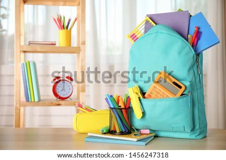Szett mozdulatlan szerszámok iskola illusztráció ceruza Stock fotó © bluering