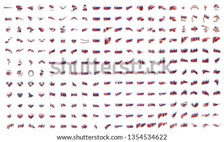 Groot collectie vector vlaggen Slowakije achtergrond Stockfoto © butenkow