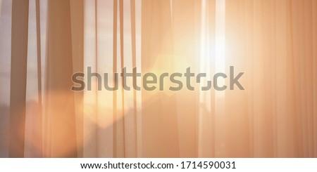 Gordijnen venster zonsondergang meubels ontwerp home Stockfoto © Anneleven