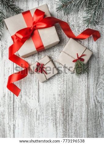 Mondo presenta Natale testo design vetro Foto d'archivio © pressmaster