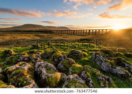 Yorkshire paisagem parque grã-bretanha parede campo Foto stock © CaptureLight