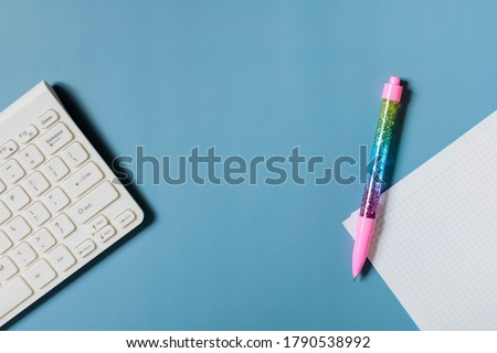 colorful notepaper and keyboard Stock photo © devon