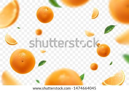 érett narancs izolált fehér háttér zöld Stock fotó © calvste