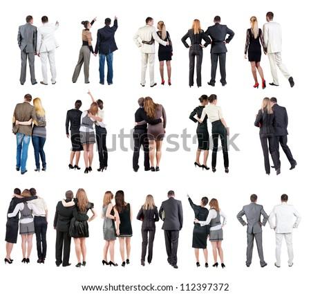 Stockfoto: Twee · zakenvrouw · permanente · witte · business · mode