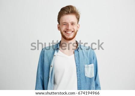 portret · poważny · młody · chłopak · kamery · młodych · ludzi - zdjęcia stock © feedough