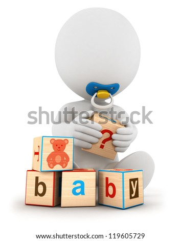 3d White People Baby Playing With Toys ストックフォト © 3dmask