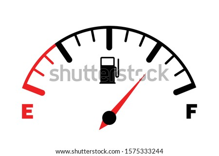 Stock photo: Petrol Gage Full