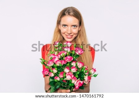 Pretty young blond woman with a sweet smile Stock photo © Giulio_Fornasar